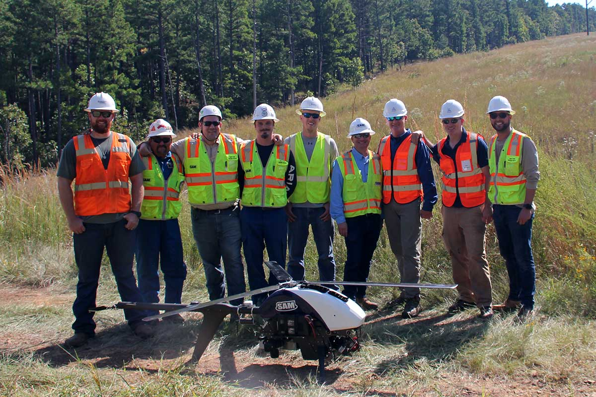 Choctaw Nation UASIPP hosts Beyond-Visual-Line-of-Sight Linear Infrastructure Inspection